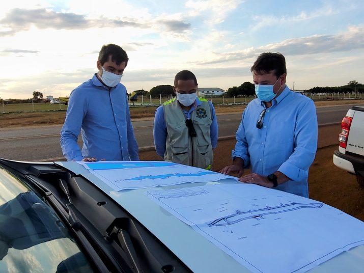 DNIT faz visita in loco para dar seguimento a projetos de trevos ao longo da BR-070